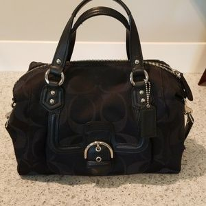 Coach leather trimmed Satchel